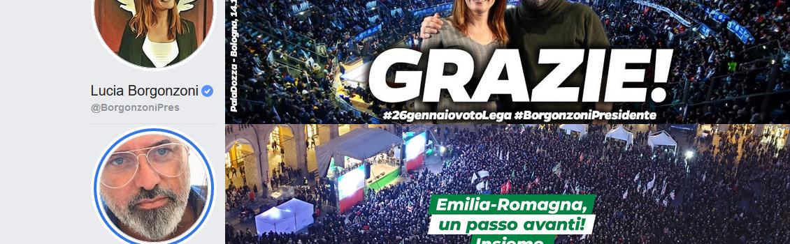 Osservatorio Social: Bonaccini e Borgonzoni alla prova di Facebook